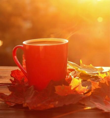 Cafe au coin du feu automne