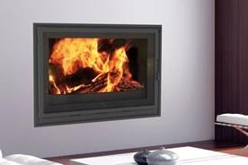 FF Insert chauffage bois cheminee cadre basic slim GP