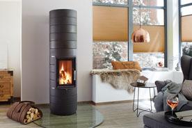 Fonte Flamme chauffage poele masse bois Colona 1