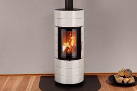 Fonte Flamme chauffage poele masse bois ColonaLite