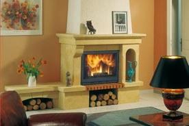 FF Insert cheminee pierre classique guillemette