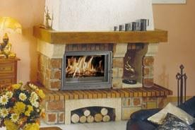 FF Insert cheminee pierre rustique adeline