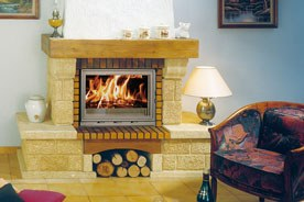 FF Insert cheminee pierre rustique francine