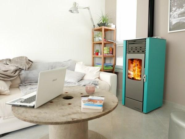HOBEN Poele a granulés H5 Classic turquoise