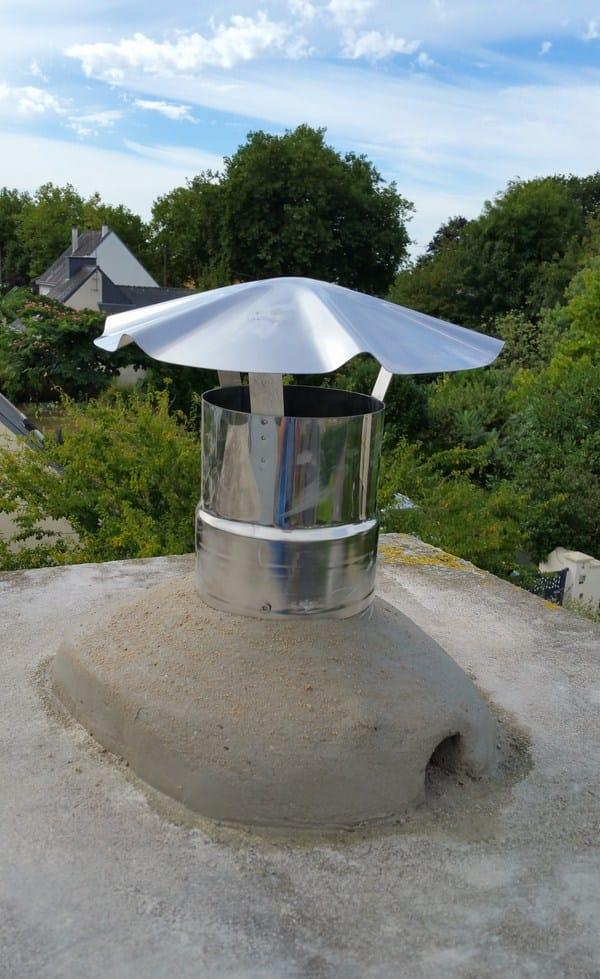 Souche de cheminee installation poele Koet Inov Plouay